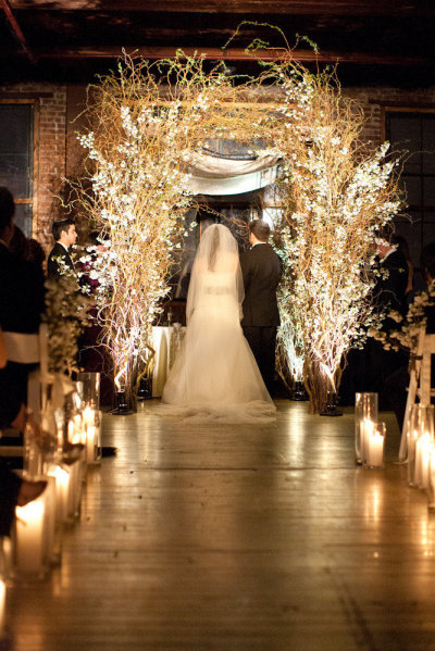 Gilded Chuppah | The Big Fat Jewish Wedding