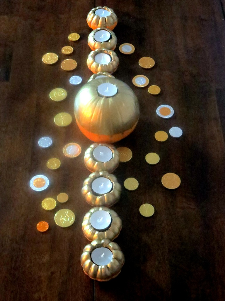 Pumpkin Menorah Aerial View
