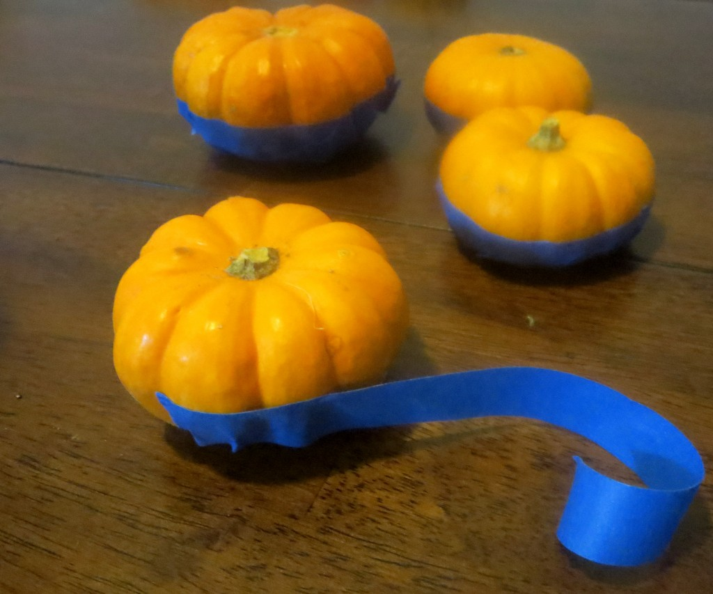 Taping Pumpkins