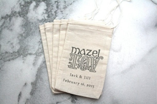 Personalized Mazel Tov Favor Bags | The Big Fat Jewish Wedding