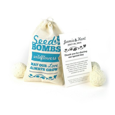 Wildflower Seed Bombs Wedding Favor