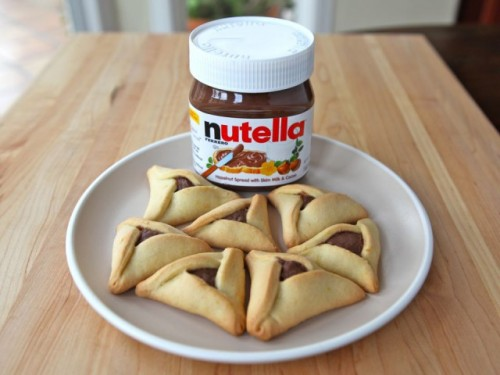 Hamentashen Filled With Nutella