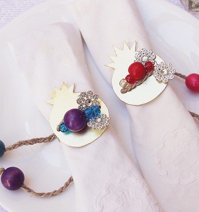 Pomegranate Napkin Rings For Purim