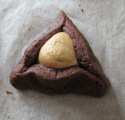 Chocolate Peanut Butter Hamentashen