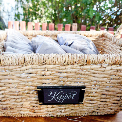 Personalized Kippot Display | 13 Things Jewish Brides Can't Resist