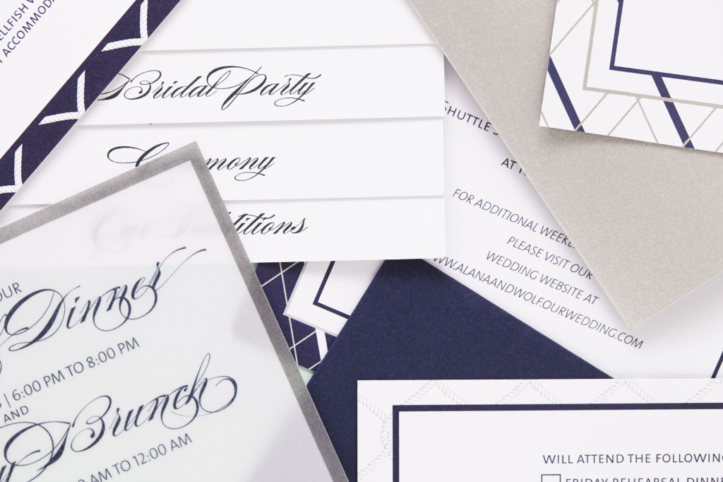 Nautical Inspired Jewish Wedding Invitations | Sugar & Type 2