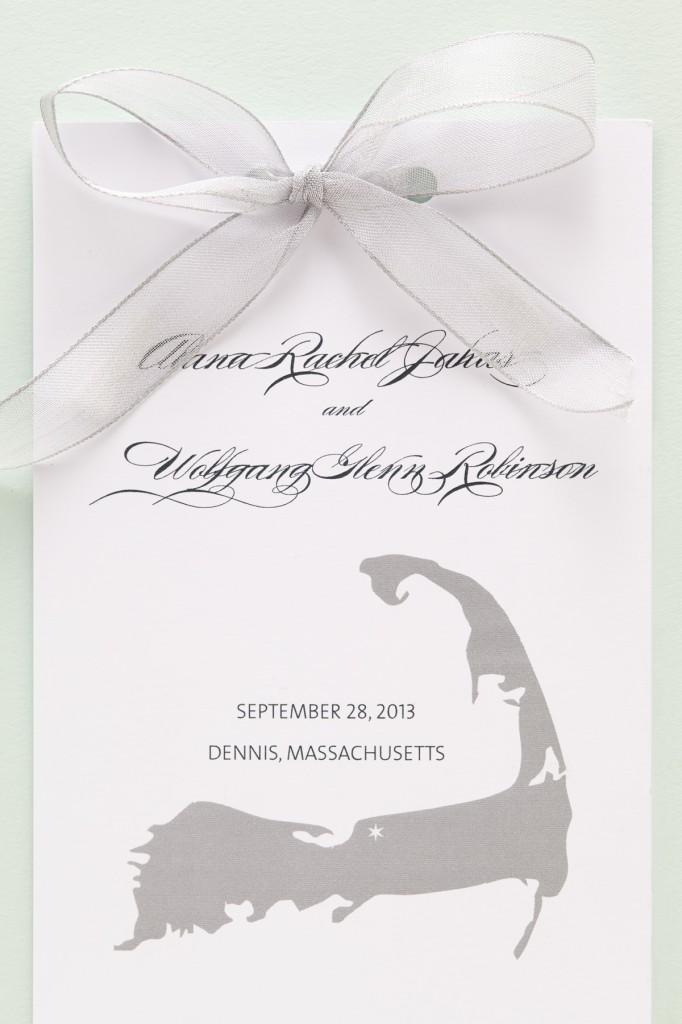 Nautical Inspired Jewish Wedding Invitations   Sugar & Type 4