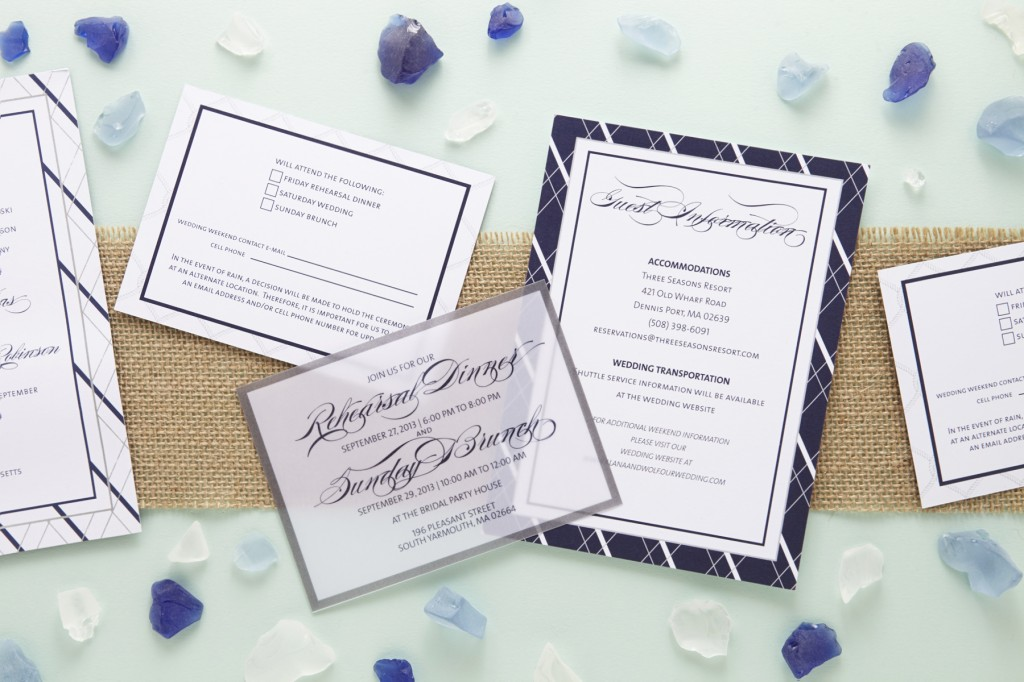 Nautical Inspired Jewish Wedding Invitations | Sugar & Type 6