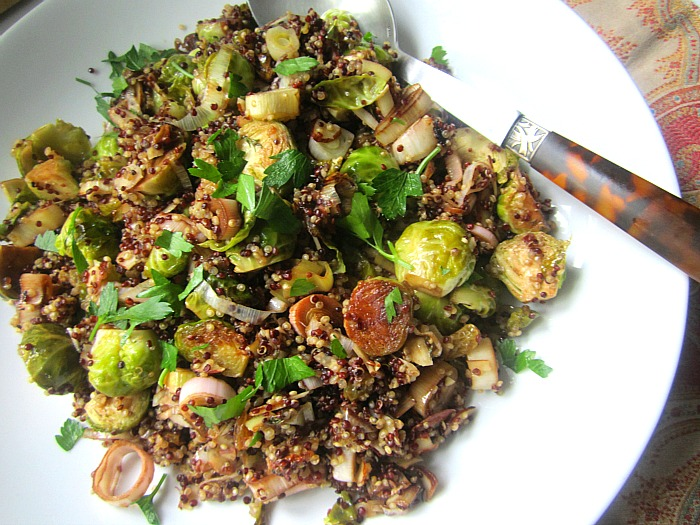 Passover-Friendly Recipes That Are Delicious All Year Round | Quinoa With Roasted Brussel Sprouts, Leeks & Almonds