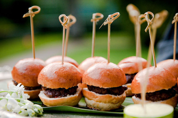 Mini Burgers For Wedding Reception