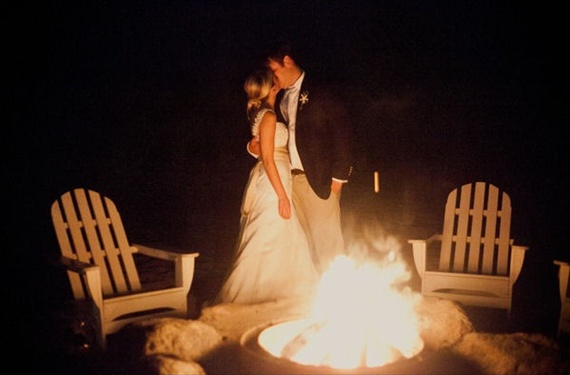 Bonfire At Wedding Reception