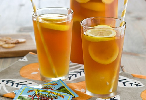 Wedding Refreshers : Iced Tea With Honey Lemon Ginger Ice Cubes