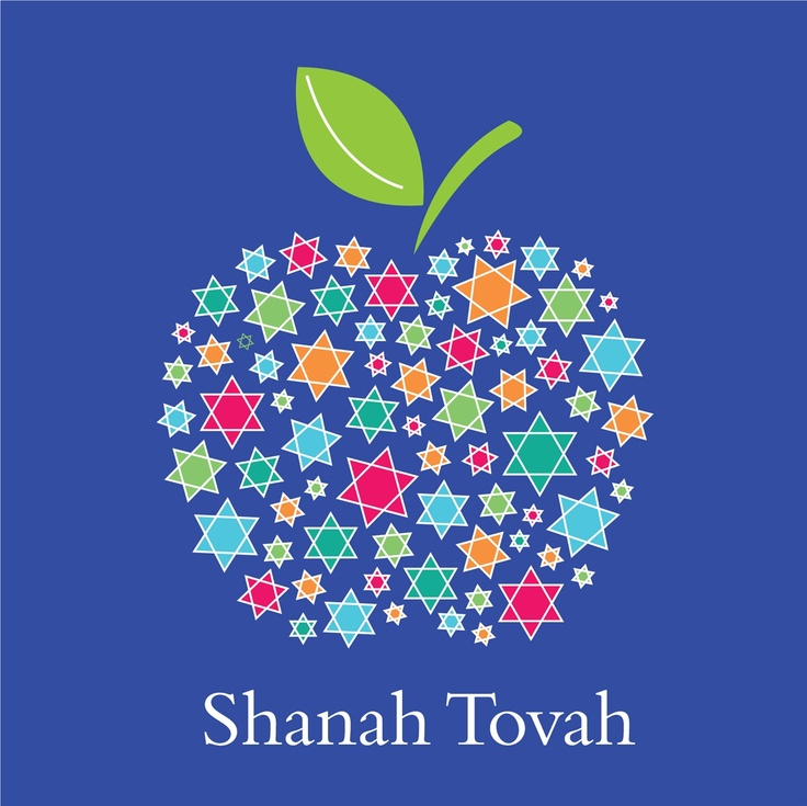 Rosh hashanah greeting cards with ananya cards the big fat jewish blue apple shana tova card ananya cards m4hsunfo