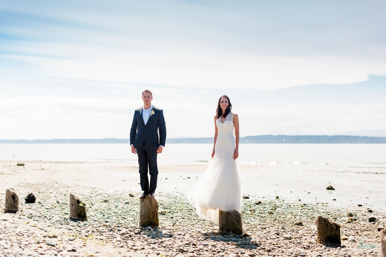 Rustic jewish beach wedding seattle wa the big fat for Beach weddings in washington state