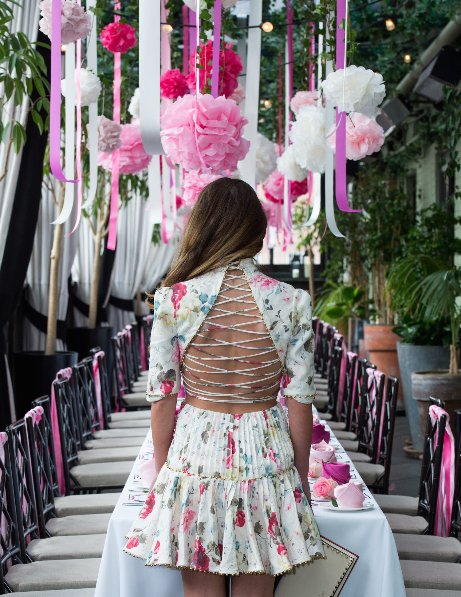 Ribbon Filled Garden Bridal Shower In NYC