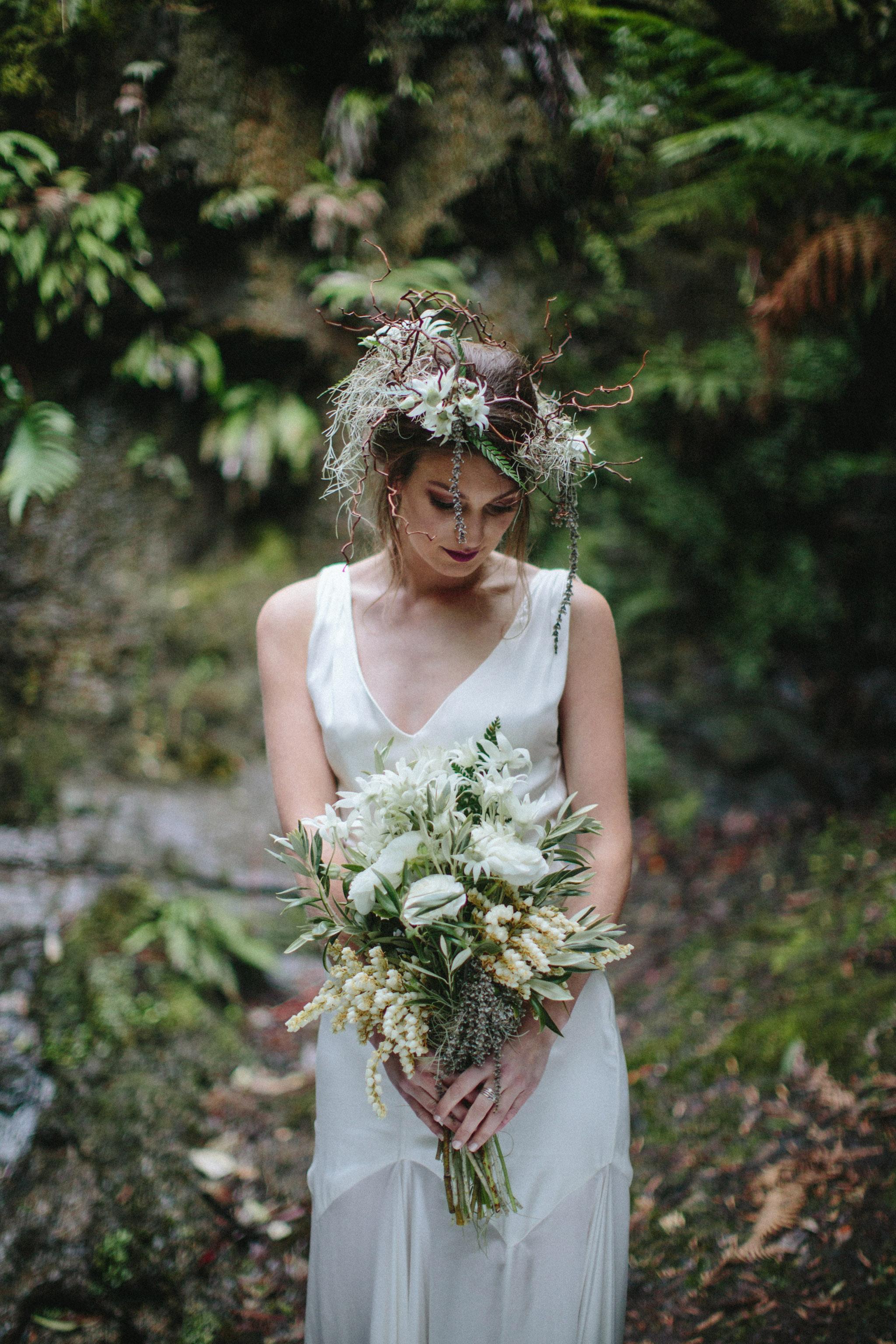 Wedding Photography Websites Inspiration: Dark & Woodsy Bridal Inspiration