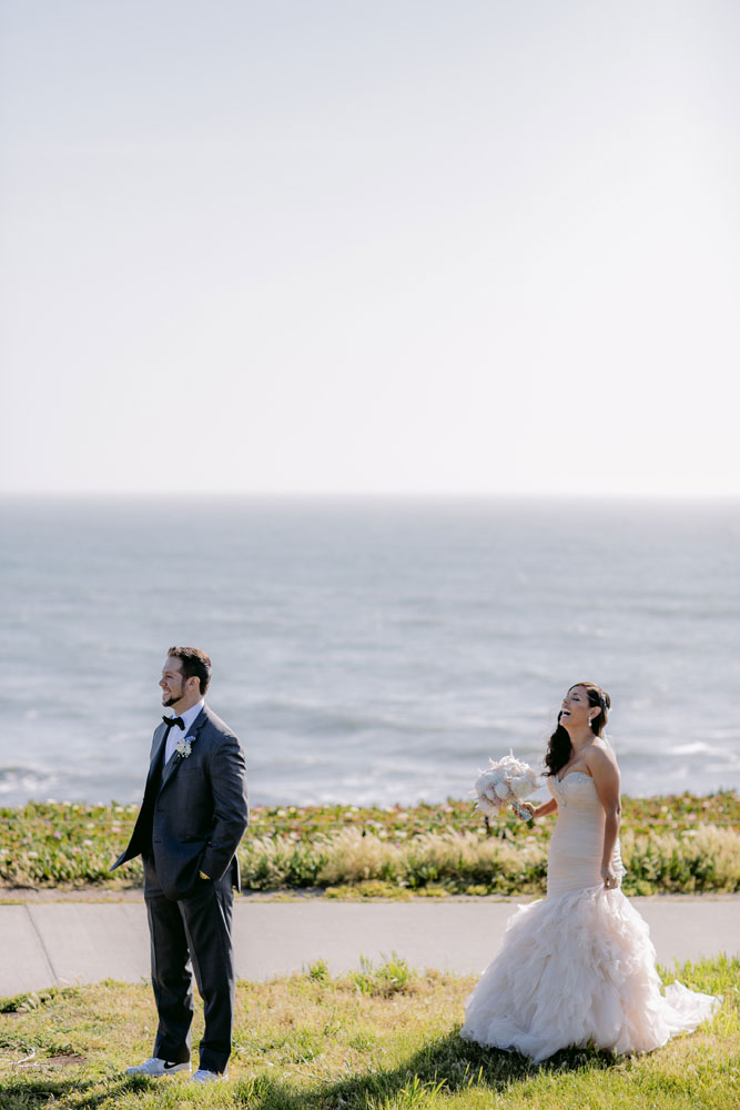 Lux White Wedding Ritz Carlton Half Moon Bay | Clane Gessel Photos 08