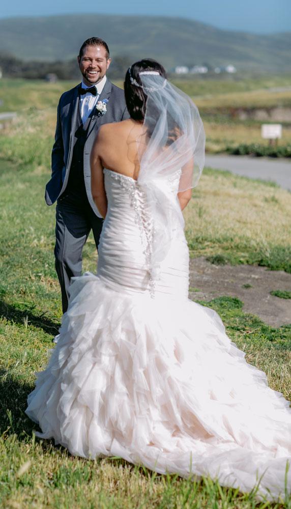 Lux White Wedding Ritz Carlton Half Moon Bay | Clane Gessel Photos 09