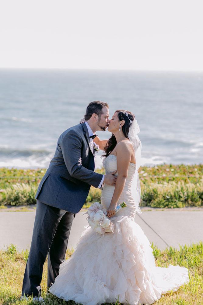 Lux White Wedding Ritz Carlton Half Moon Bay | Clane Gessel Photos 10