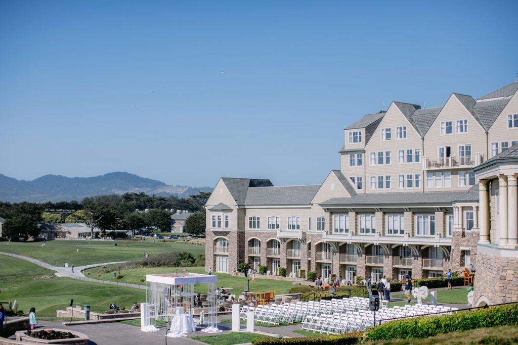 Lux White Wedding Ritz Carlton Half Moon Bay | Clane Gessel Photos 17