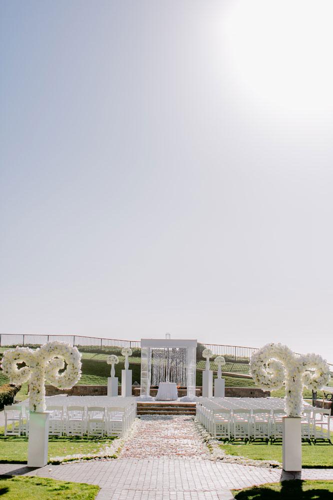Lux White Wedding Ritz Carlton Half Moon Bay | Clane Gessel Photos 19