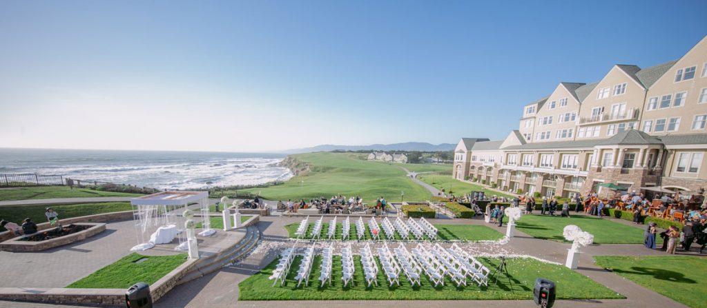 Lux White Wedding Ritz Carlton Half Moon Bay | Clane Gessel Photos 21