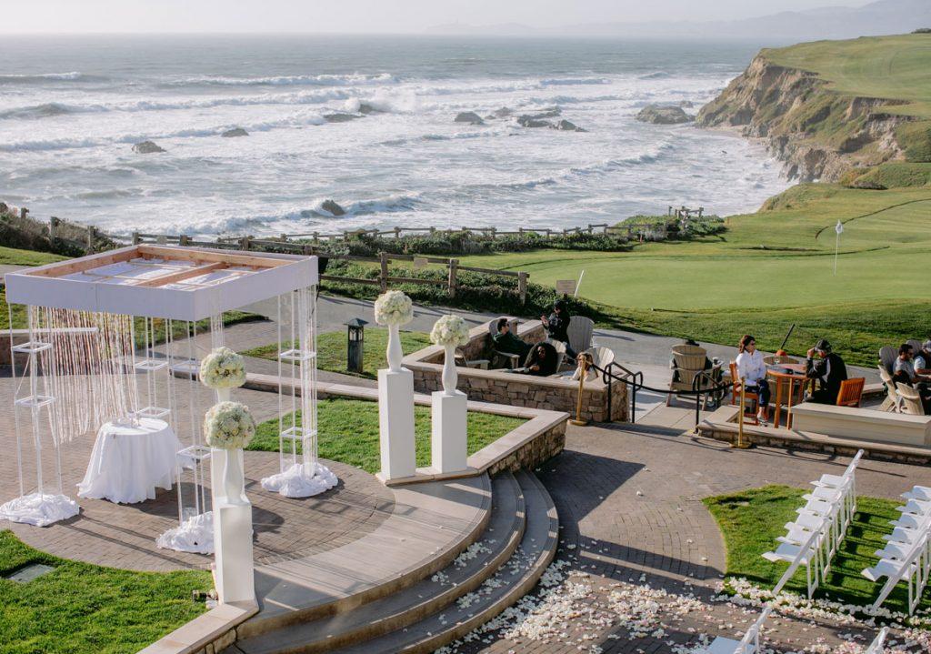 Lux White Wedding Ritz Carlton Half Moon Bay | Clane Gessel Photos 22