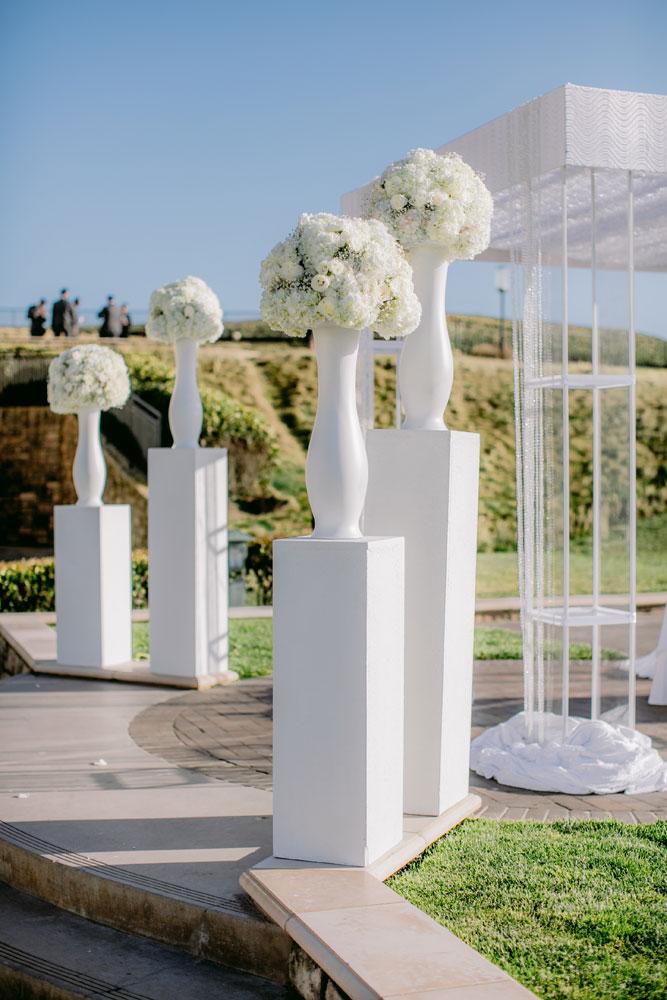 Lux White Wedding Ritz Carlton Half Moon Bay | Clane Gessel Photos 23