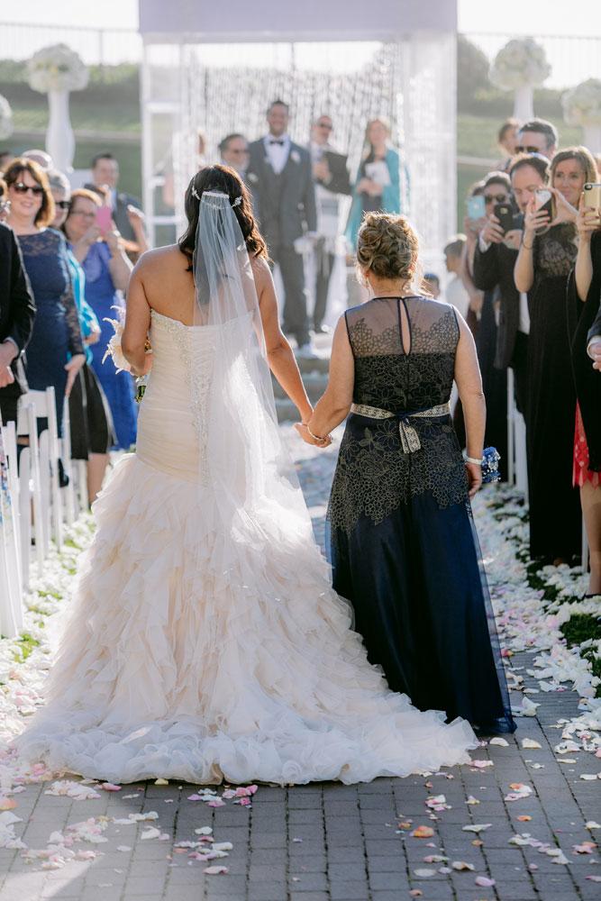 Lux White Wedding Ritz Carlton Half Moon Bay | Clane Gessel Photos 26