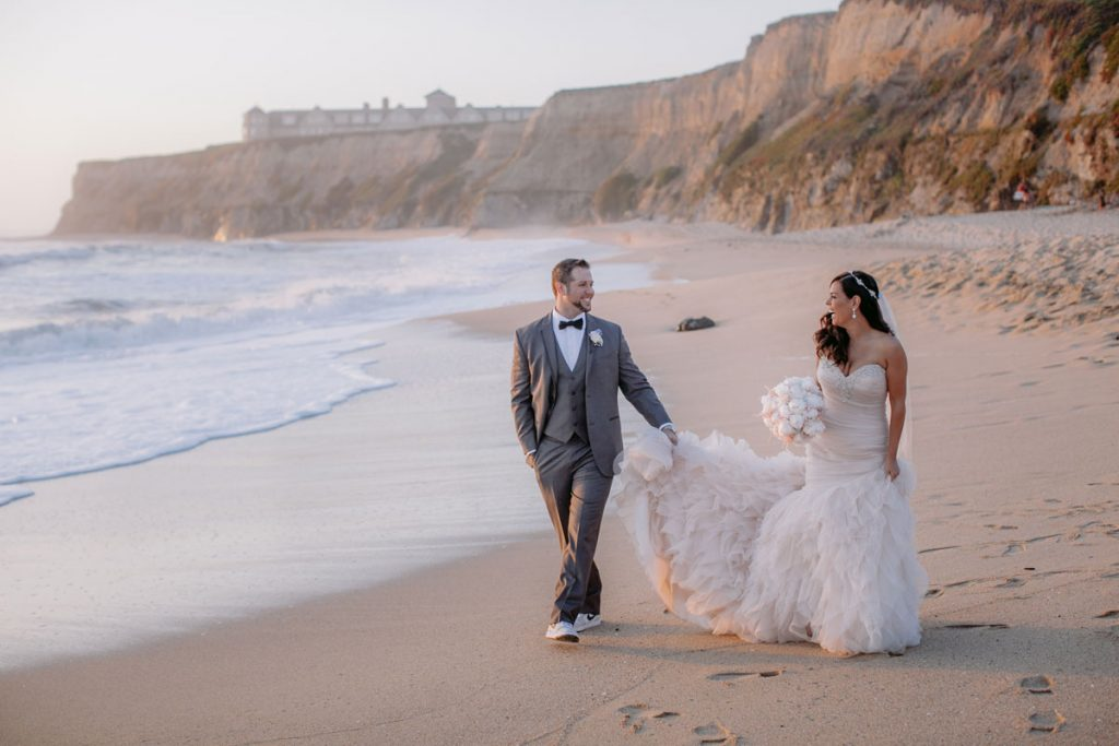 Lux White Wedding Ritz Carlton Half Moon Bay | Clane Gessel Photos 30