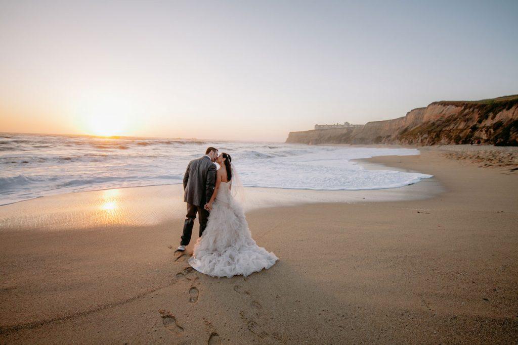 Lux White Wedding Ritz Carlton Half Moon Bay | Clane Gessel Photos 32