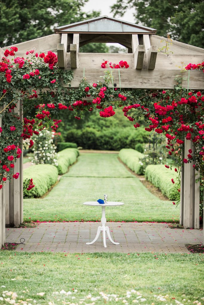 Pastel Rose Garden Wedding At The Norfolk Botanical Garden