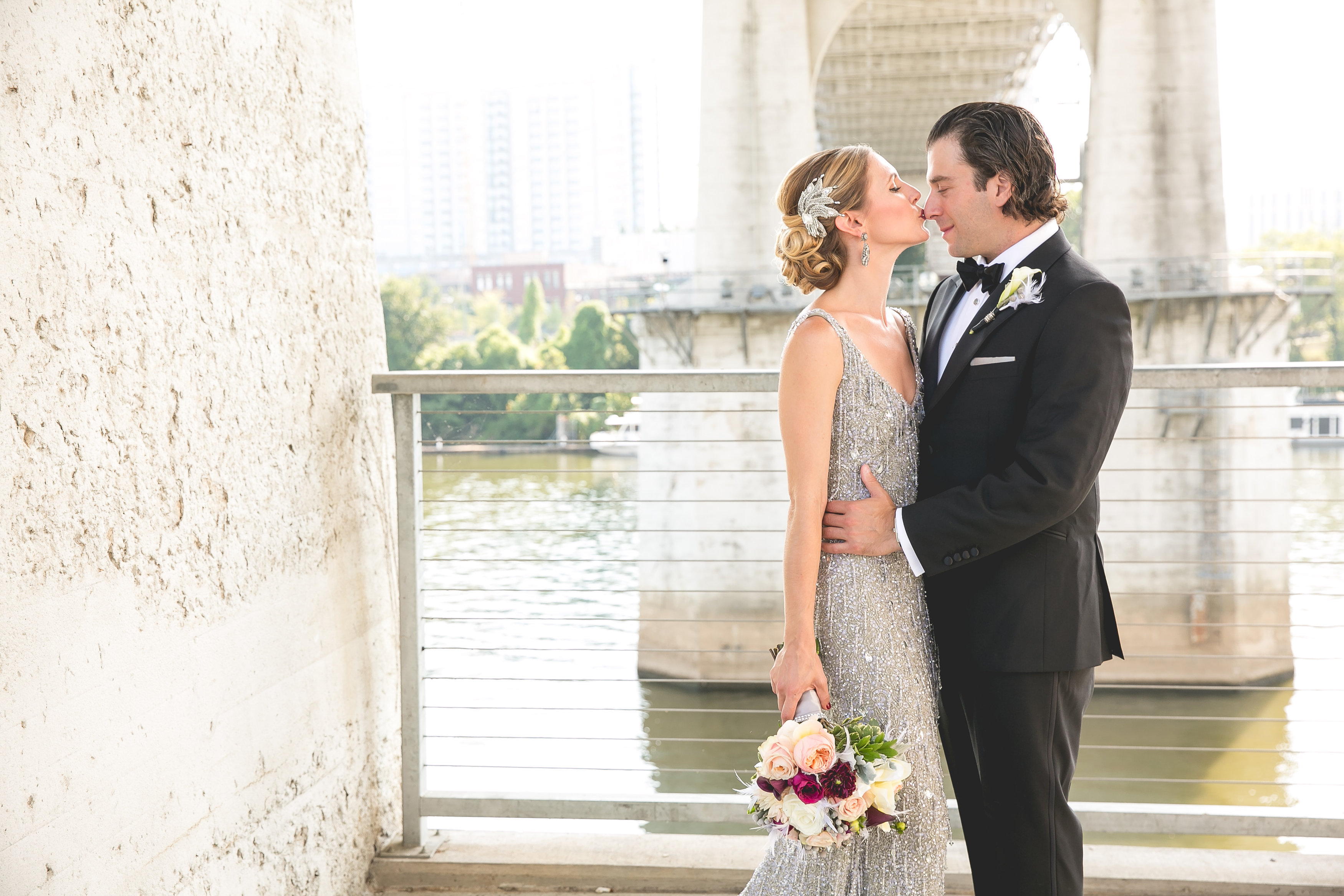 Best Sparkling Silver Jewish Wedding Nashville The Big Fat With Dress
